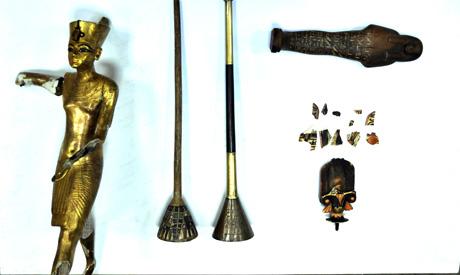 De 4 teruggevonden oudheden