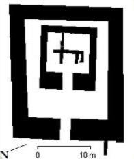 Plattegrond van de archaïsche tempel