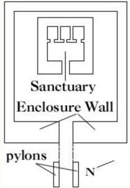 Plattegrond van de Horustempel van Sanchkara Mentoehotep